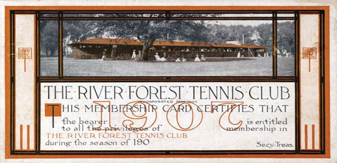 River Forest Tennis Club 1907 Membership Certificate