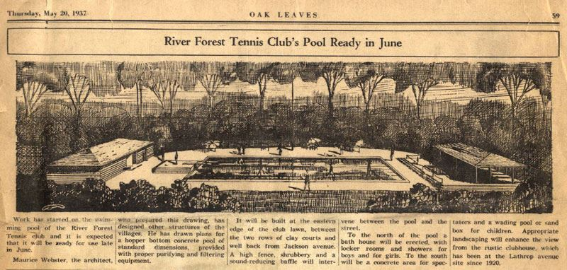New pool at the RFTC circa 1937