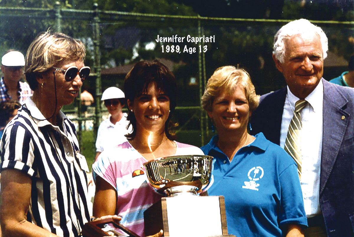 Jennifer Capriati - winner of 1989 Junior Tournament